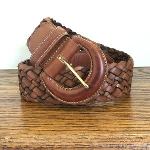 coach braided british tan belt